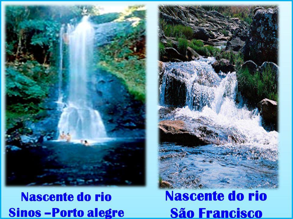 Nascente do rio São Francisco Nascente do rio Sinos –Porto alegre