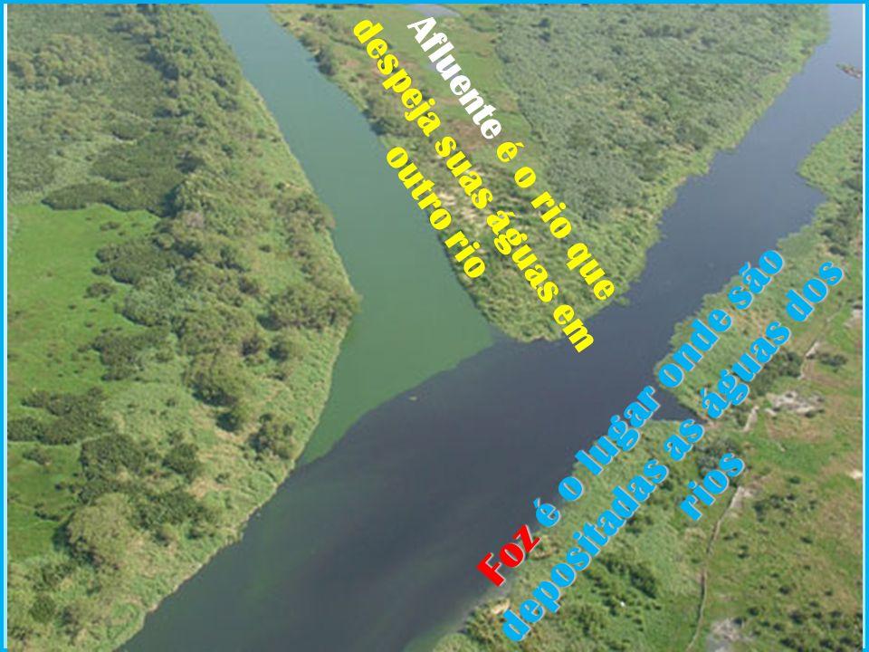 Foz é o lugar onde são depositadas as águas dos rios