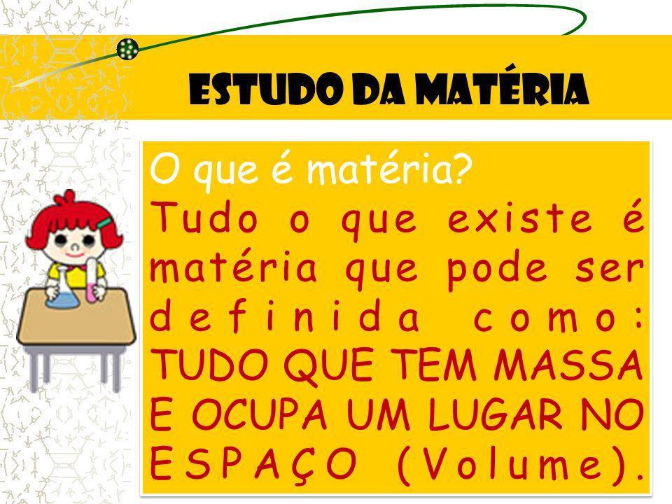 Estudo da Matéria O que é matéria.
