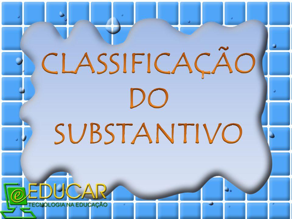 CLASSIFICAÇÃO DO SUBSTANTIVO