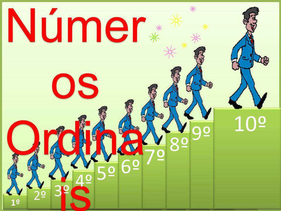 Números Ordinais 10º 9º 8º 7º 6º 5º 4º 3º 2º 1º