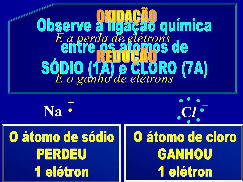 Observe a ligação química