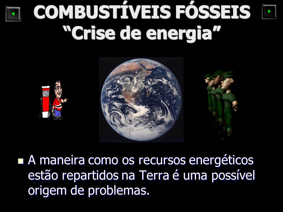 COMBUSTÍVEIS FÓSSEIS Crise de energia