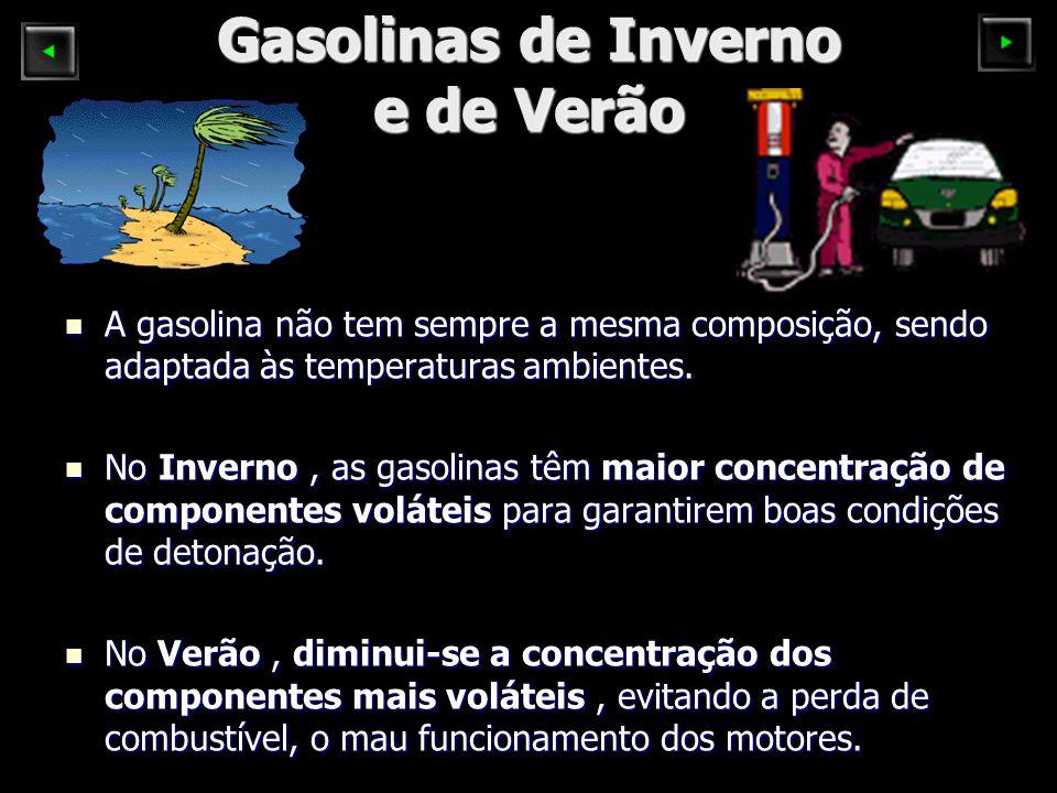 Gasolinas de Inverno e de Verão