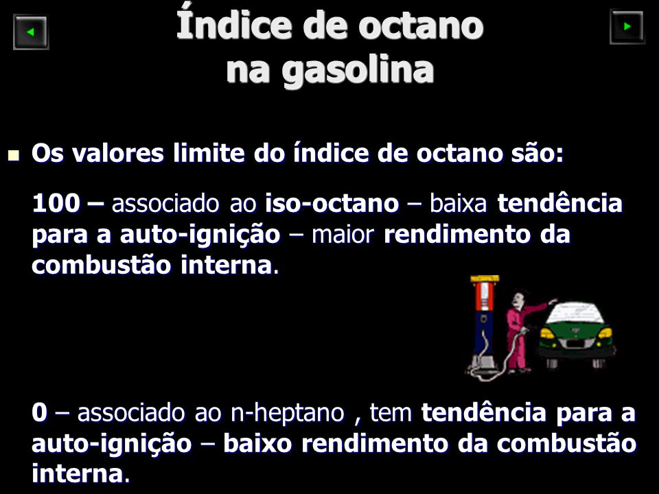 Índice de octano na gasolina