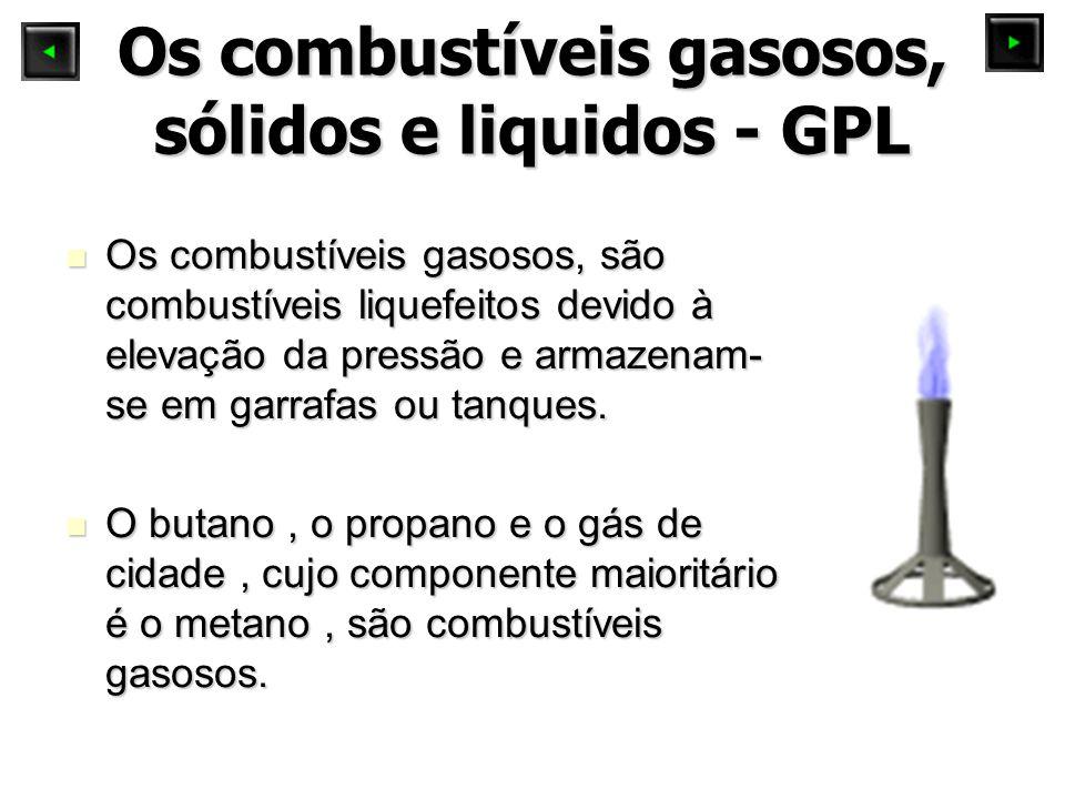 Os combustíveis gasosos, sólidos e liquidos - GPL