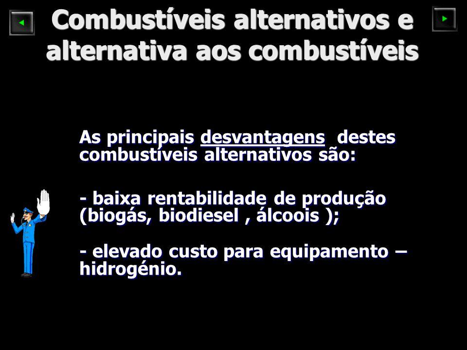 Combustíveis alternativos e alternativa aos combustíveis