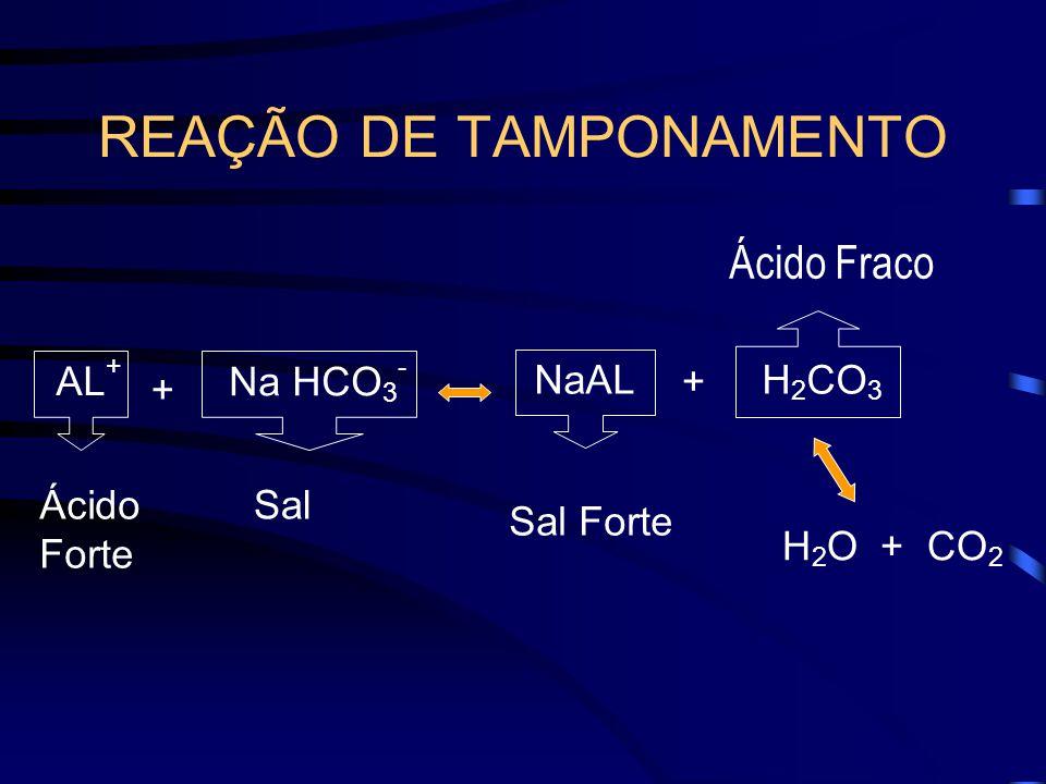 REAÇÃO DE TAMPONAMENTO