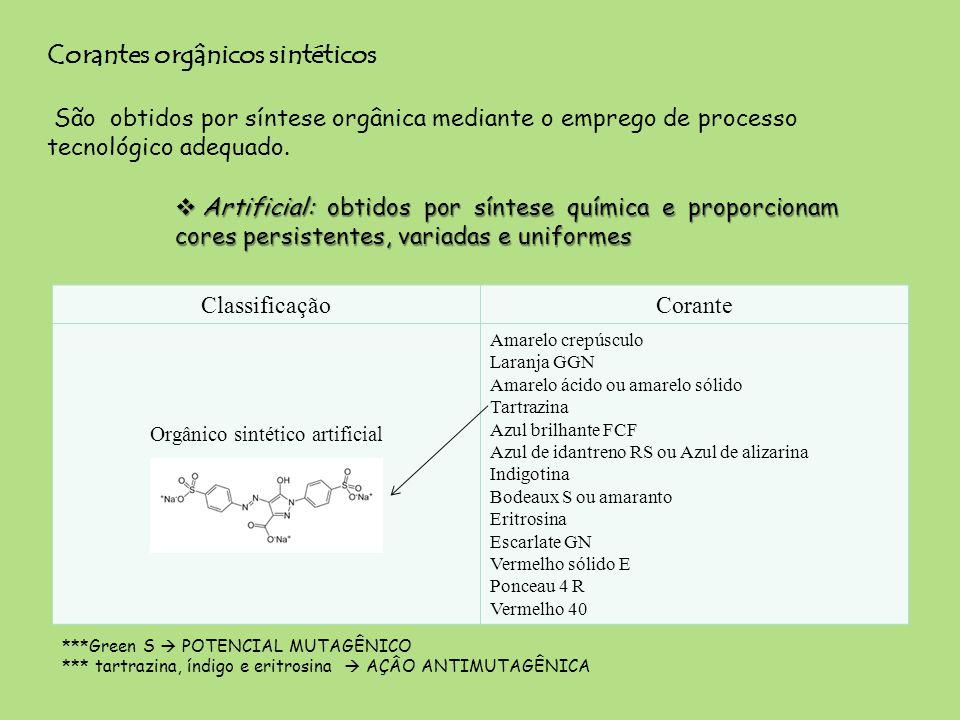 Orgânico sintético artificial