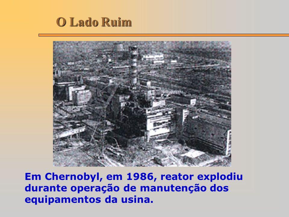 O Lado Ruim Em Chernobyl, em 1986, reator explodiu durante operação de manutenção dos equipamentos da usina.