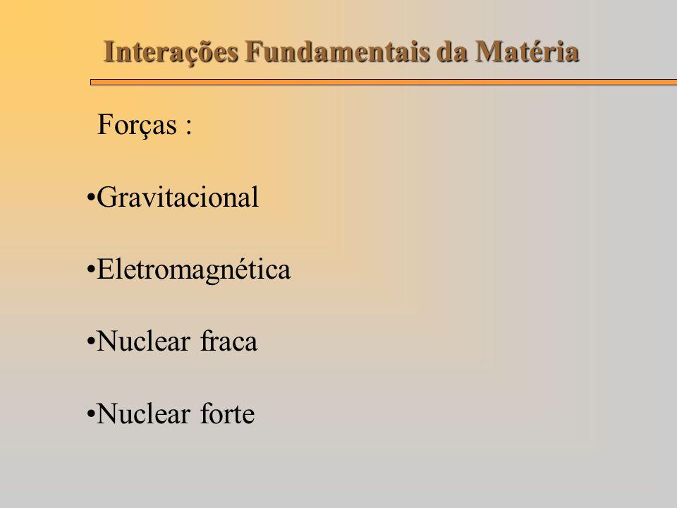 Interações Fundamentais da Matéria