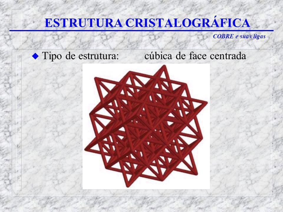 ESTRUTURA CRISTALOGRÁFICA