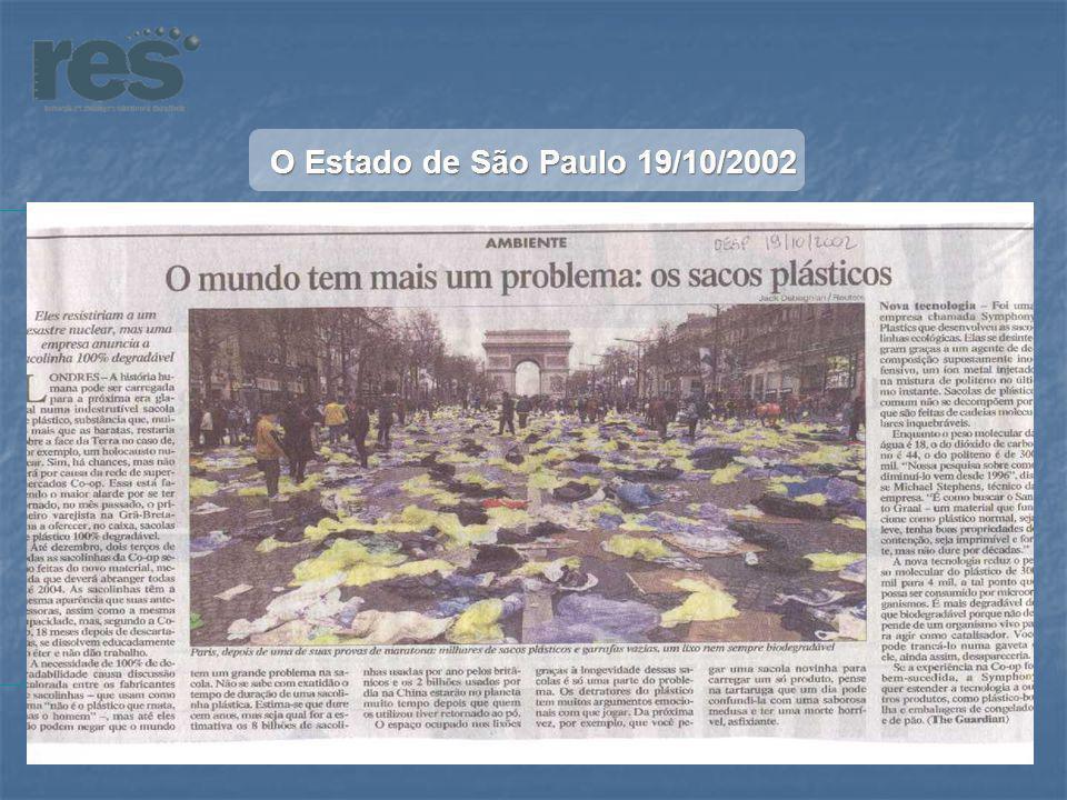O Estado de São Paulo 19/10/2002