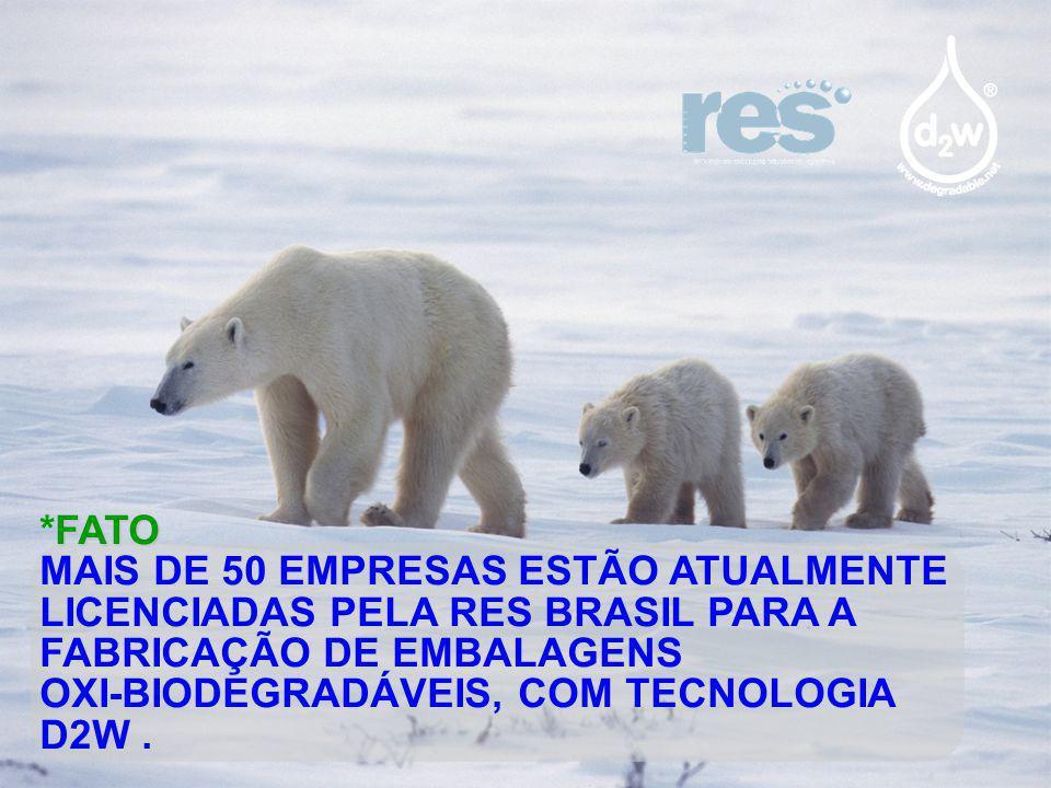 *FATO MAIS DE 50 EMPRESAS ESTÃO ATUALMENTE LICENCIADAS PELA RES BRASIL PARA A FABRICAÇÃO DE EMBALAGENS.