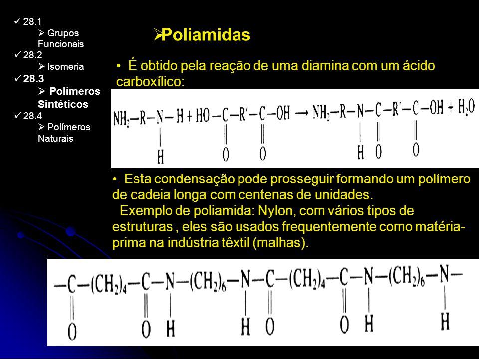 28.1 Grupos Funcionais. 28.2. Isomeria. 28.3. Polímeros Sintéticos. 28.4. Polímeros Naturais.