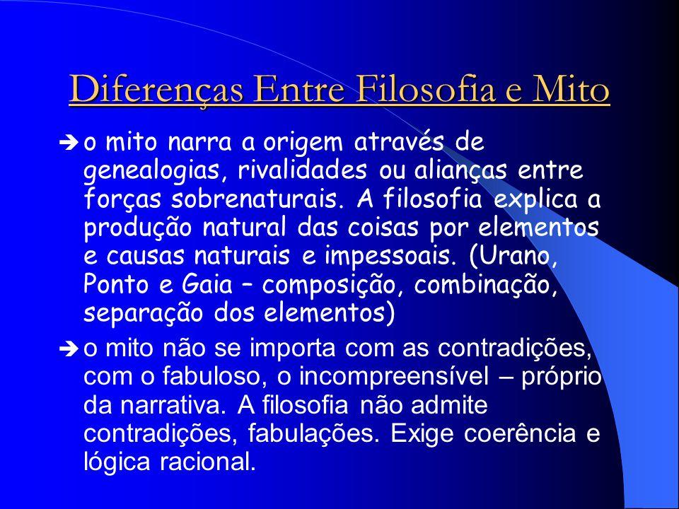 Diferenças Entre Filosofia e Mito