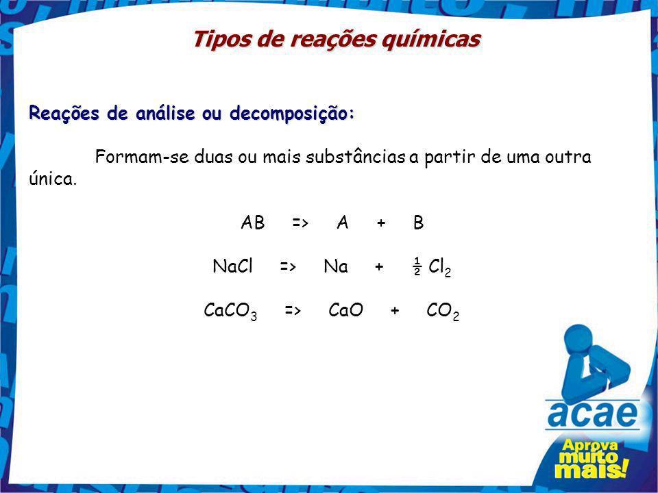 Tipos de reações químicas