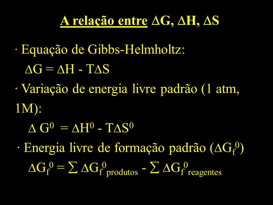 A relação entre G, H, S