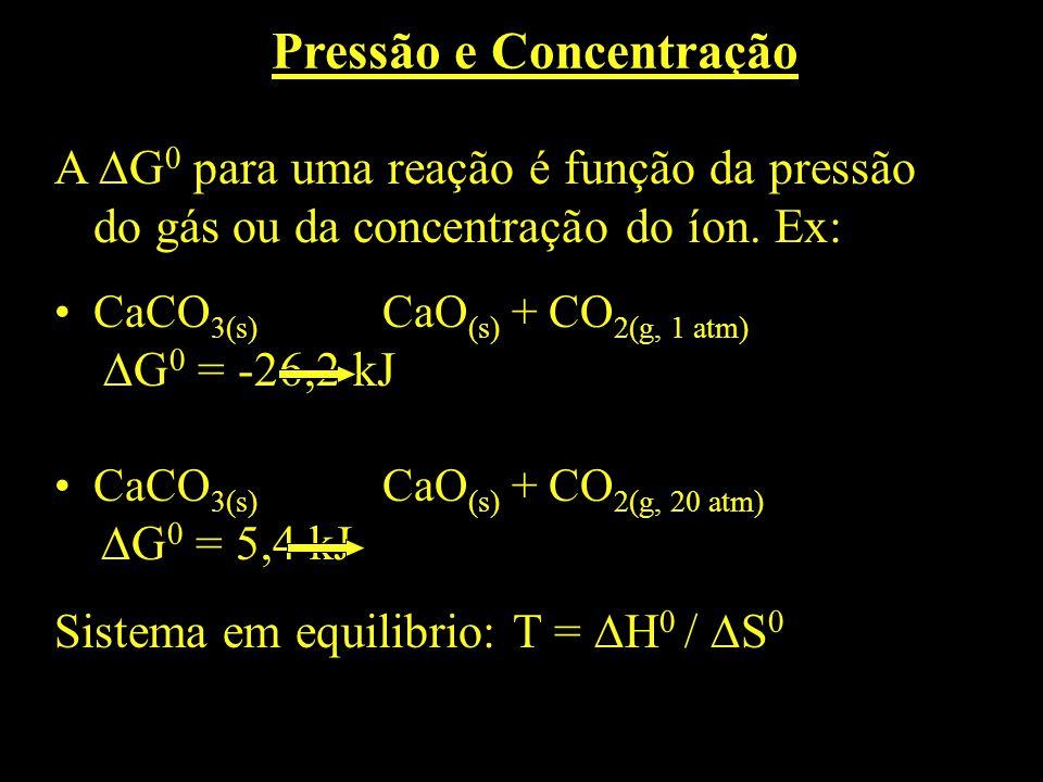 Pressão e Concentração