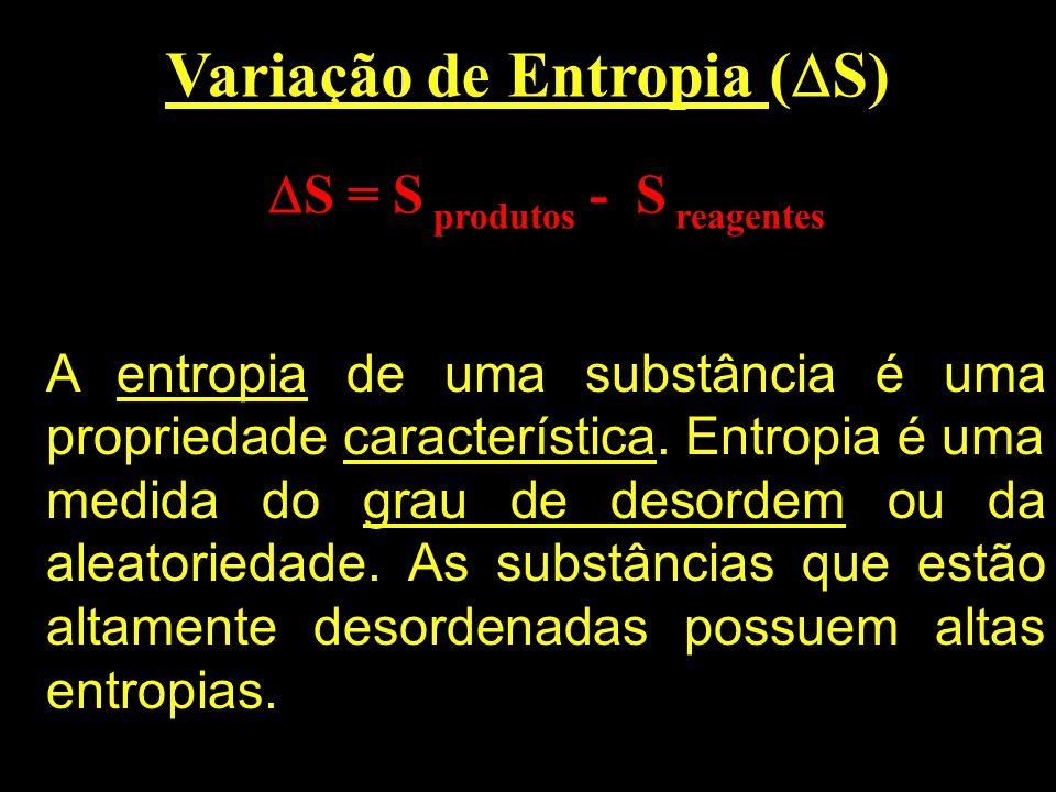 Variação de Entropia (S)