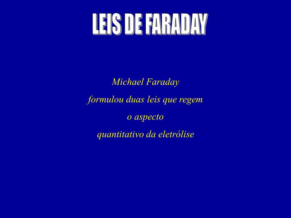 LEIS DE FARADAY Michael Faraday formulou duas leis que regem o aspecto