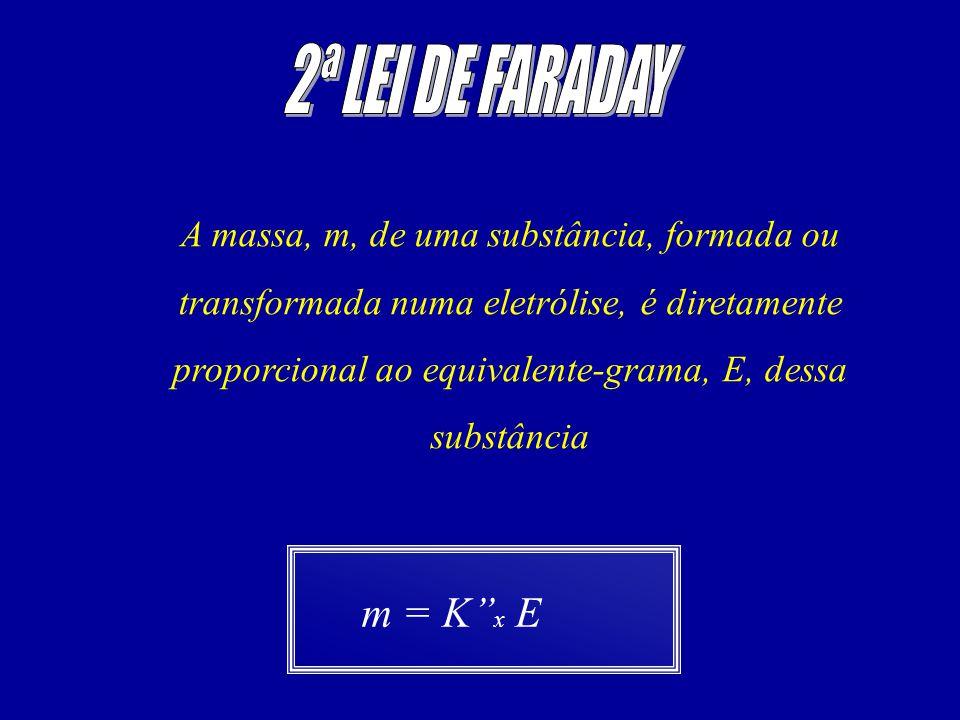 2ª LEI DE FARADAY m = K''x E