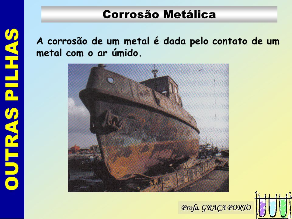 OUTRAS PILHAS Corrosão Metálica