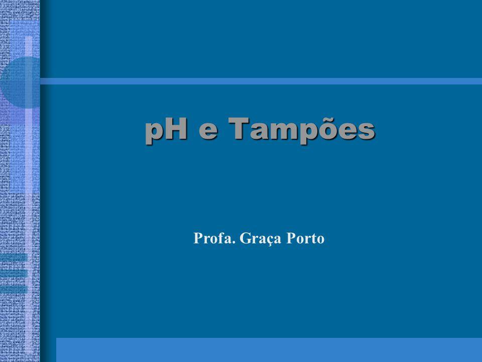 pH e Tampões Profa. Graça Porto