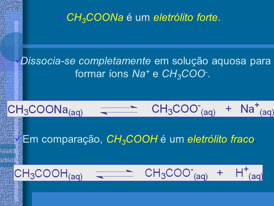 CH3COONa é um eletrólito forte.
