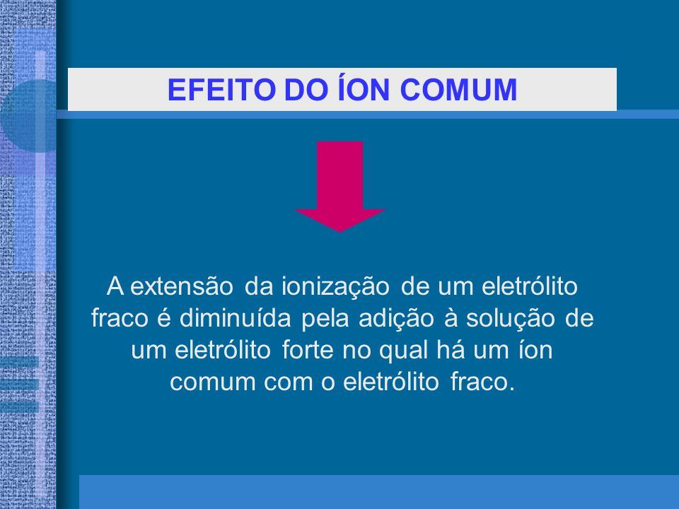 EFEITO DO ÍON COMUM