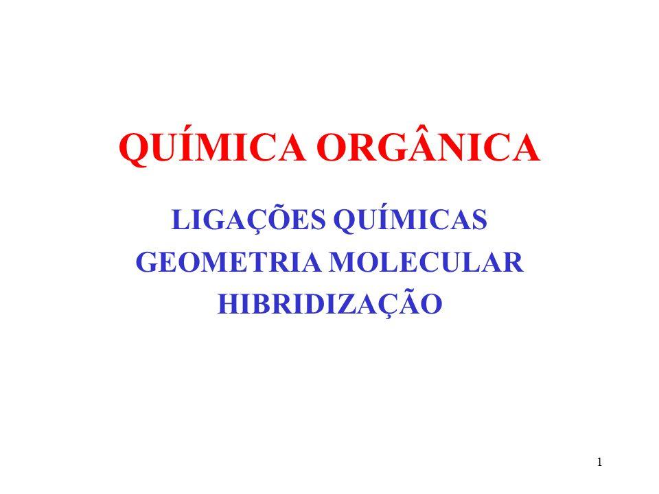LIGAÇÕES QUÍMICAS GEOMETRIA MOLECULAR HIBRIDIZAÇÃO
