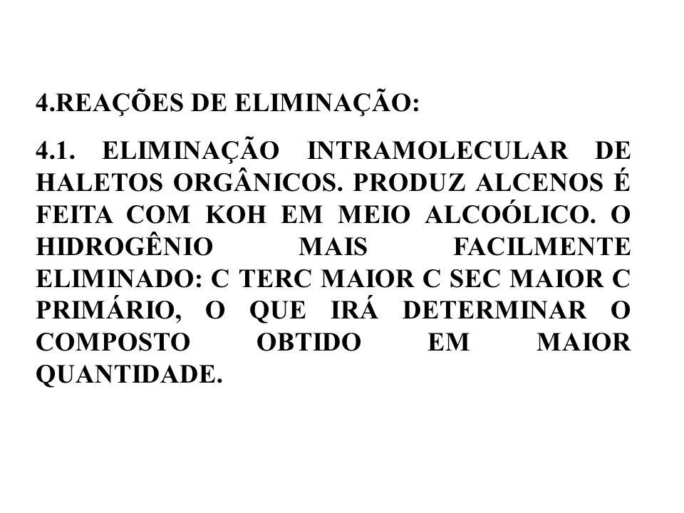 4.REAÇÕES DE ELIMINAÇÃO: