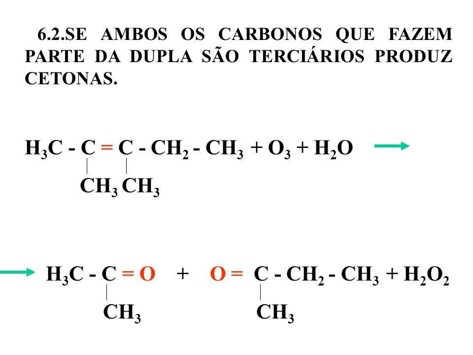 6.2.SE AMBOS OS CARBONOS QUE FAZEM PARTE DA DUPLA SÃO TERCIÁRIOS PRODUZ CETONAS.