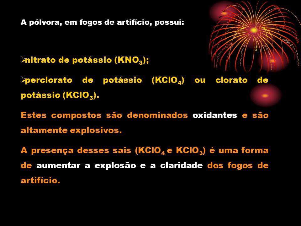 nitrato de potássio (KNO3);