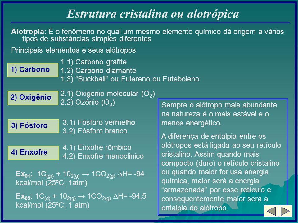 Estrutura cristalina ou alotrópica