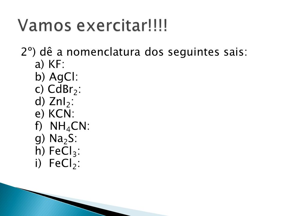 Vamos exercitar!!!.