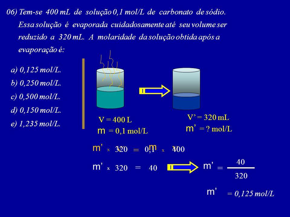 m' = mol/L m = 0,1 mol/L m m' = m' m' = = m'