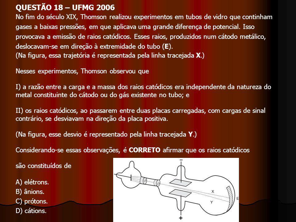 QUESTÃO 18 – UFMG 2006