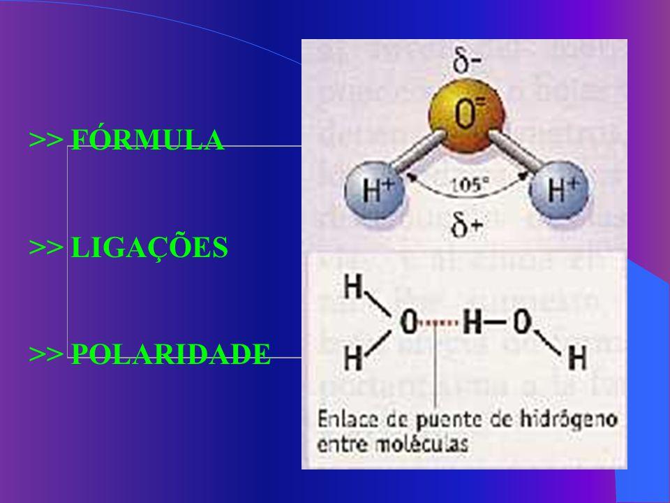 >> FÓRMULA >> LIGAÇÕES >> POLARIDADE