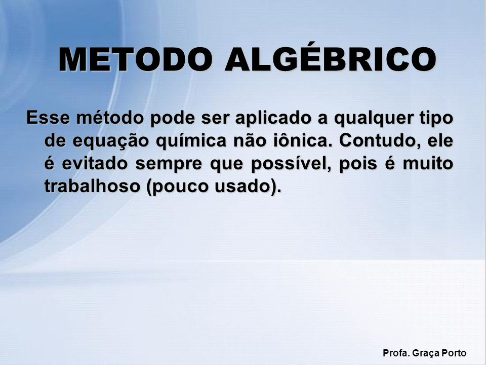METODO ALGÉBRICO