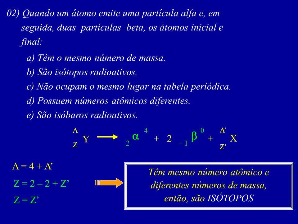 Têm mesmo número atômico e diferentes números de massa,