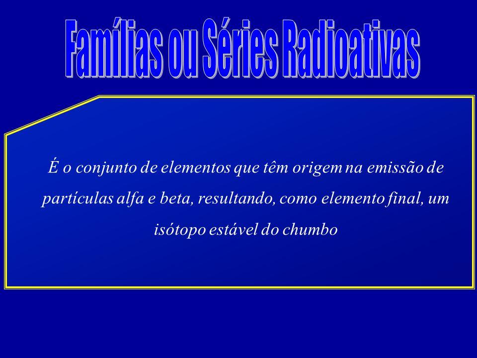 Famílias ou Séries Radioativas