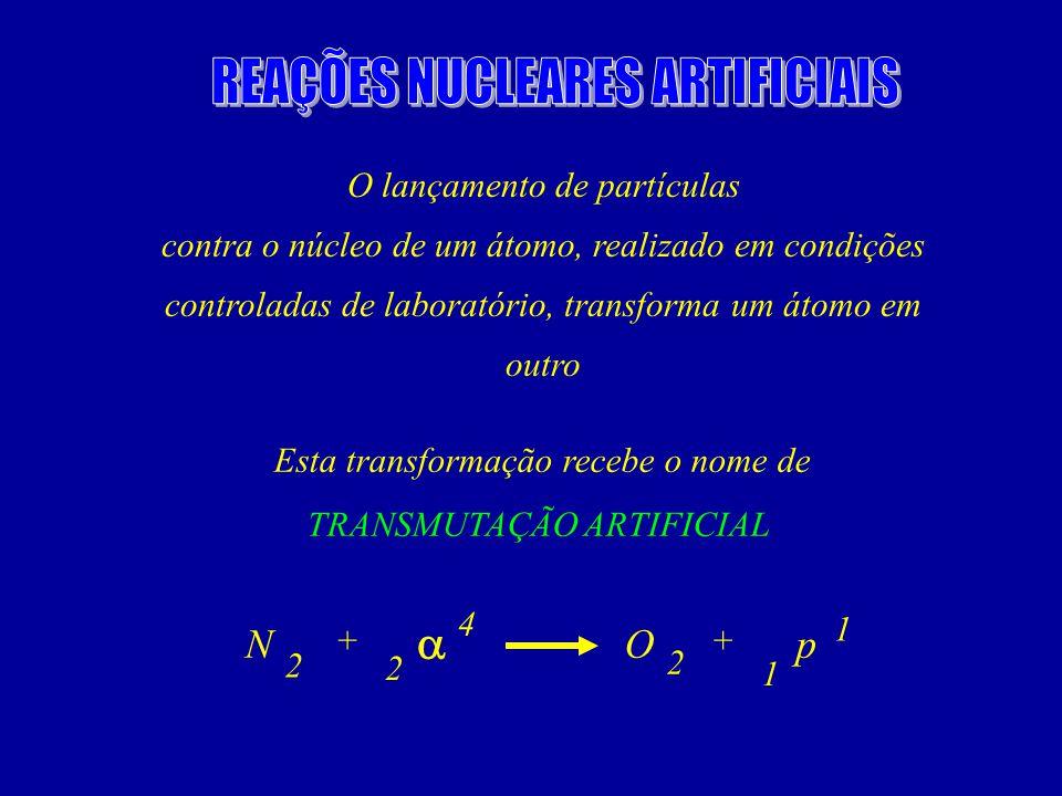 REAÇÕES NUCLEARES ARTIFICIAIS