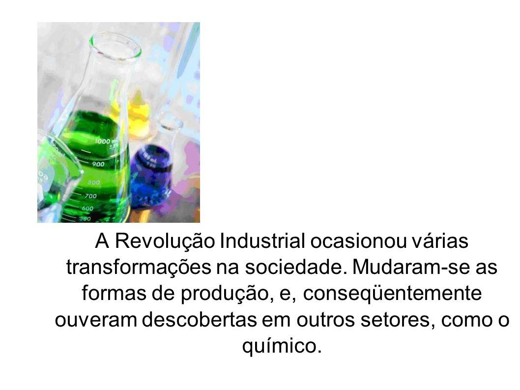 A Revolução Industrial ocasionou várias transformações na sociedade