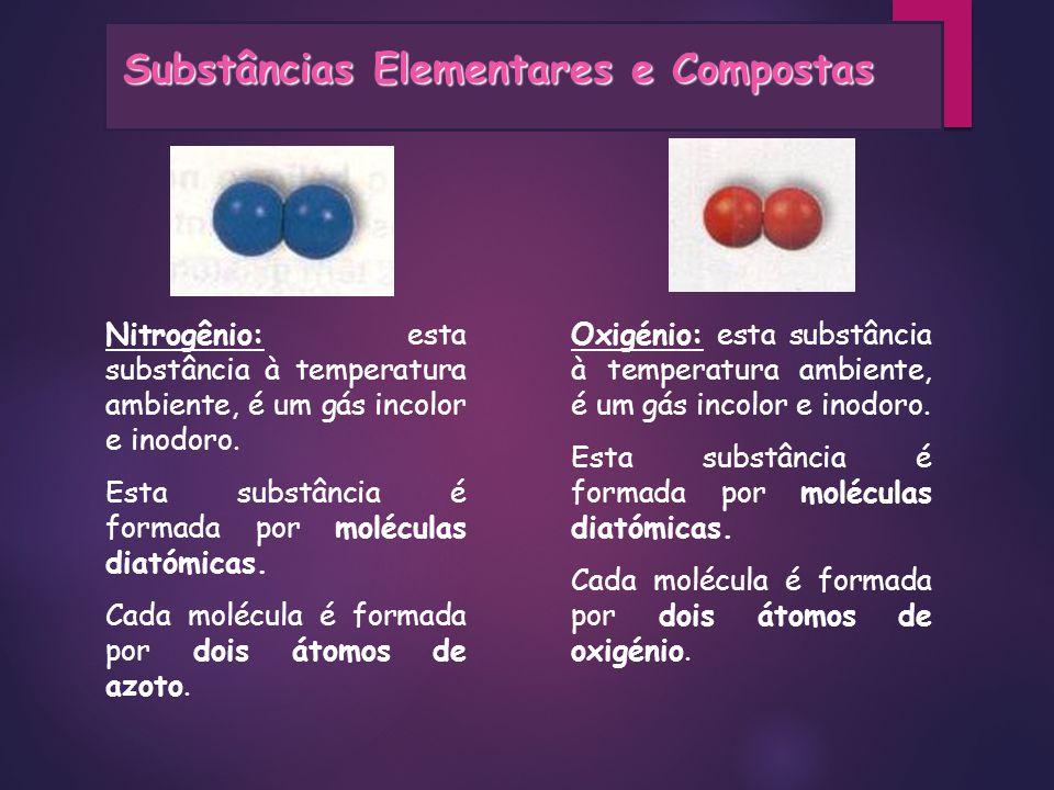 Substâncias Elementares e Compostas