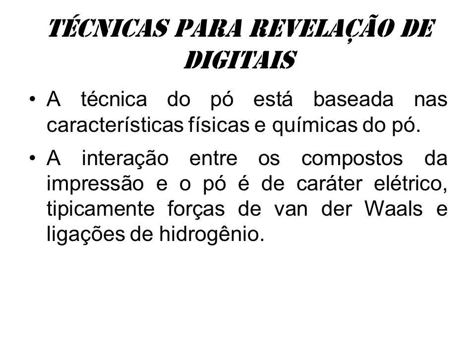 Técnicas para revelação de digitais