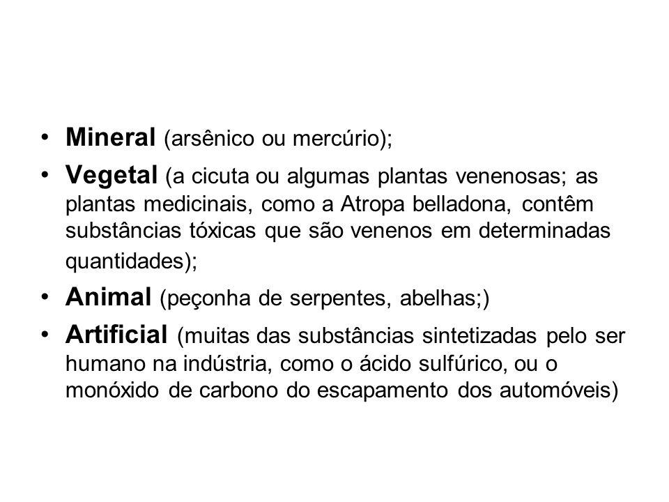 Mineral (arsênico ou mercúrio);