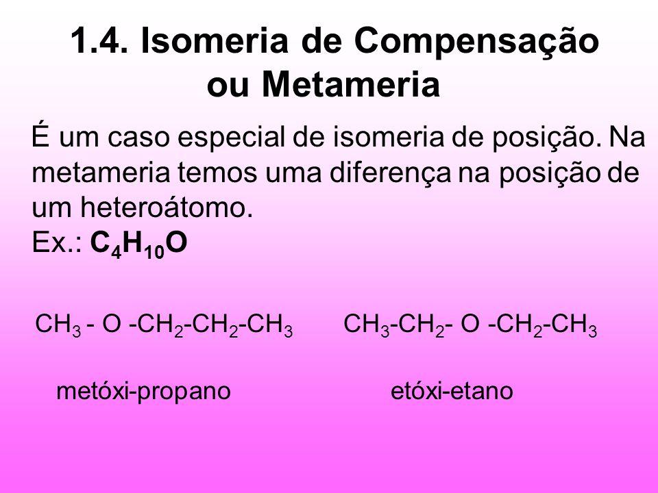 1.4. Isomeria de Compensação ou Metameria