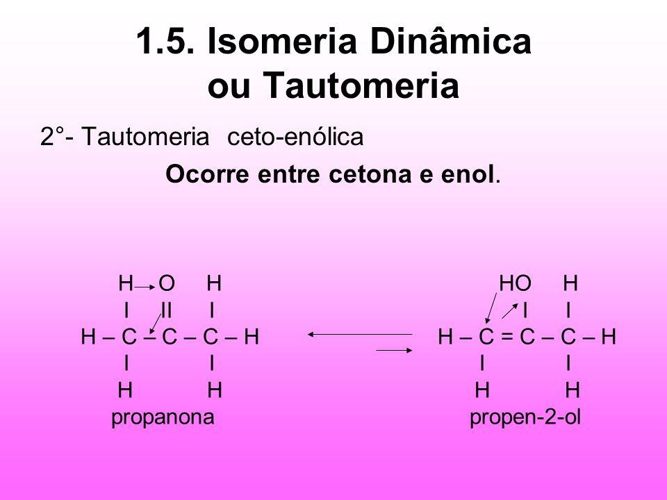 1.5. Isomeria Dinâmica ou Tautomeria