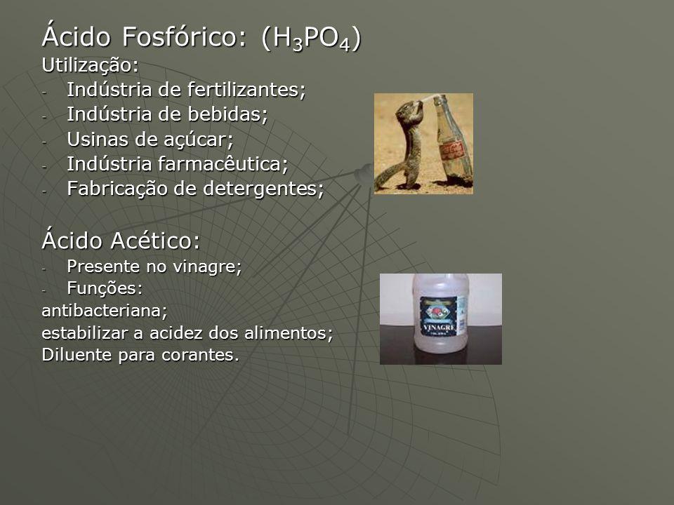 Ácido Fosfórico: (H3PO4)